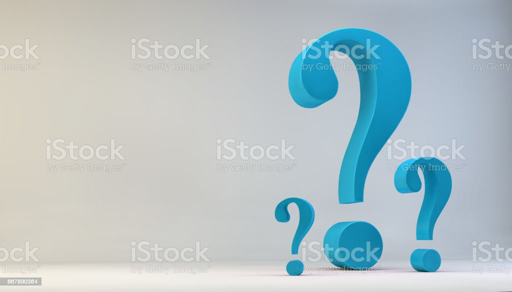 FAQ, Frequently Asked Questions, Question Marks 3D Illustration stock photo