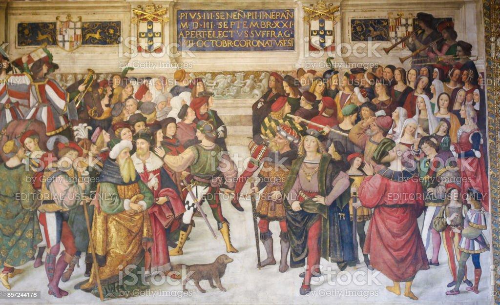 Fresque dans la bibliothèque de Piccolomini, Sienne - Photo