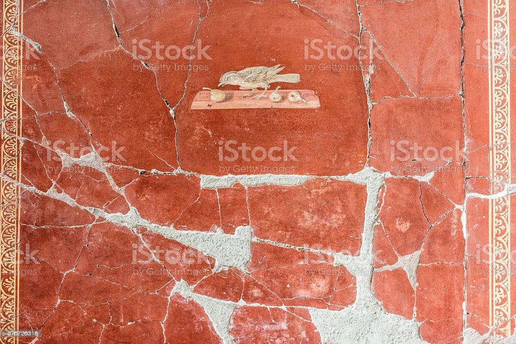 fresco in villa oplontis stock photo