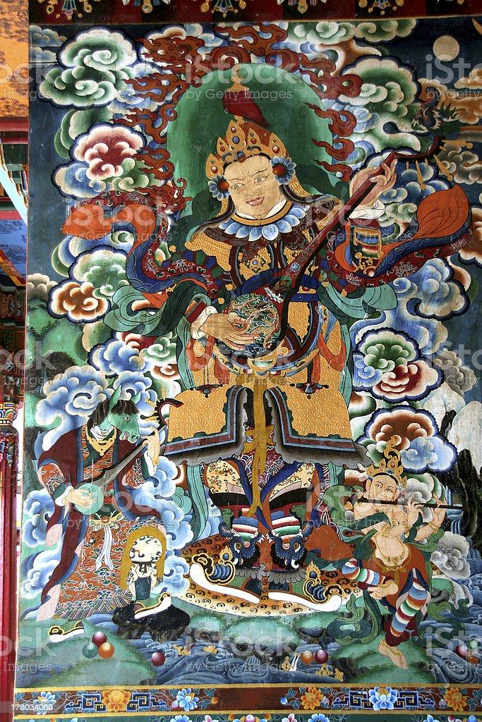 Fresco on Monastery Wall royalty-free stock photo