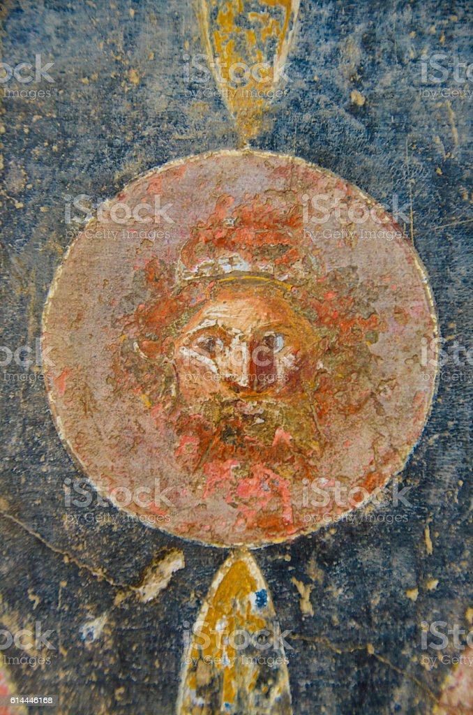 Fresco on the Wall at Pompeii, Italy - foto stock
