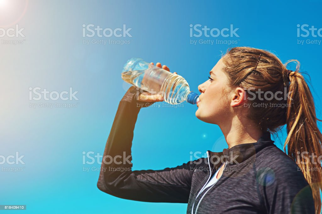 Fresh air and water, what a great combination stock photo