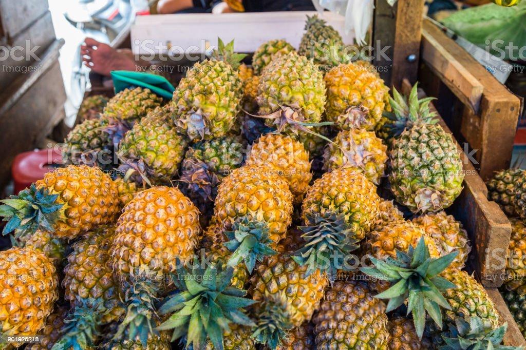 Verse ananas close-up foto