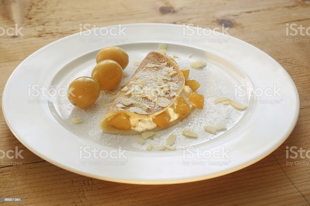 fresh and delicious home made pancake royalty-free stock photo