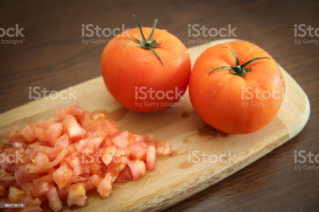 Fresh and delicious tomatoes royalty-free stock photo