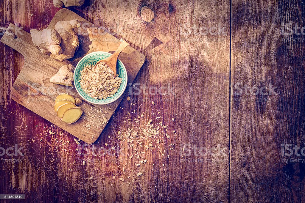Fresh and Dried Ginger Spice royalty-free stock photo
