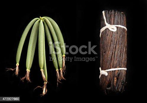 istock Fresh and Dried vanilla 472327660