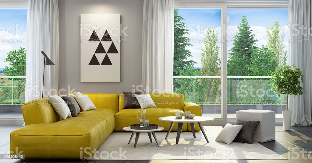 Fresh and modern style living room interior – Foto