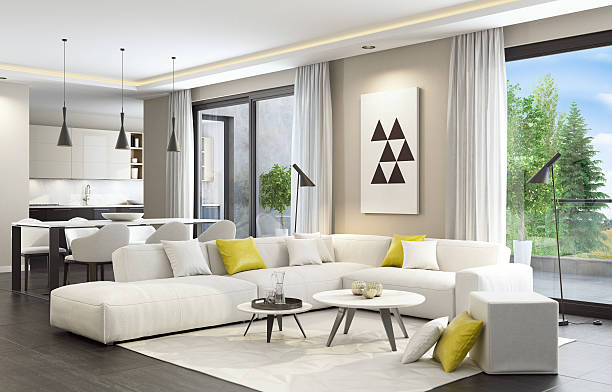 Fresh and modern white style living room interior stock photo. Living Room Pictures  Images and Stock Photos   iStock