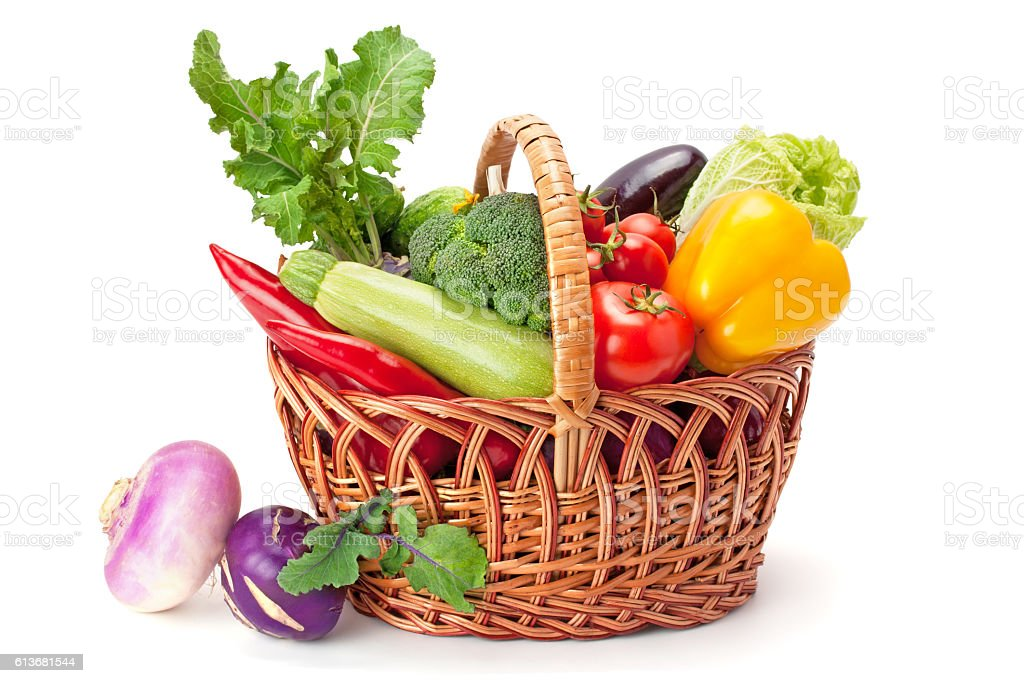 fresh and ripe vegetables stock photo