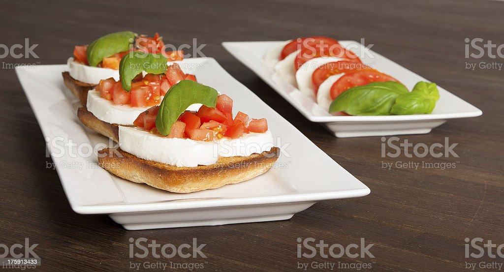 Fresh and tasty bruschetta stock photo
