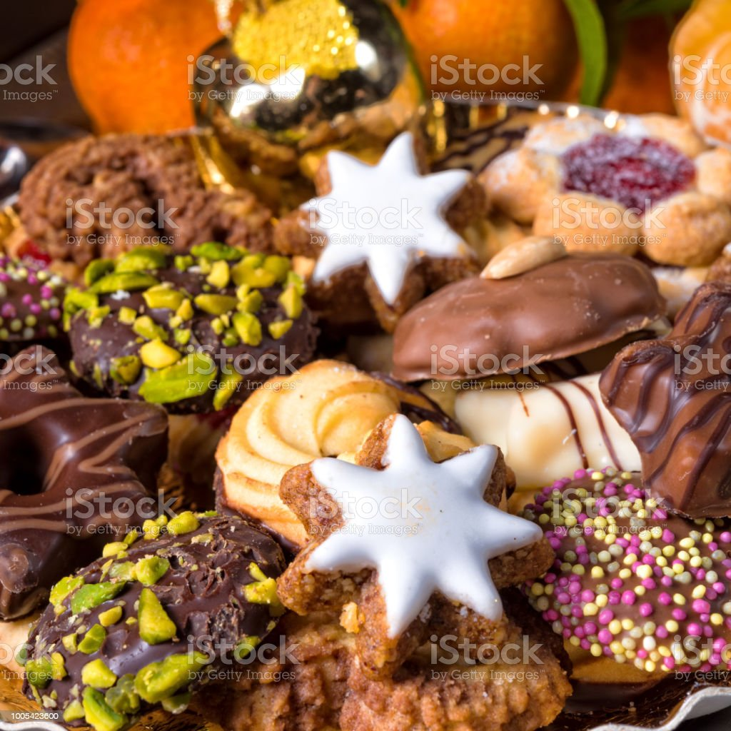 Fresh And Tasty Christmas Cookies Stock Photo More Pictures Of Backgrounds