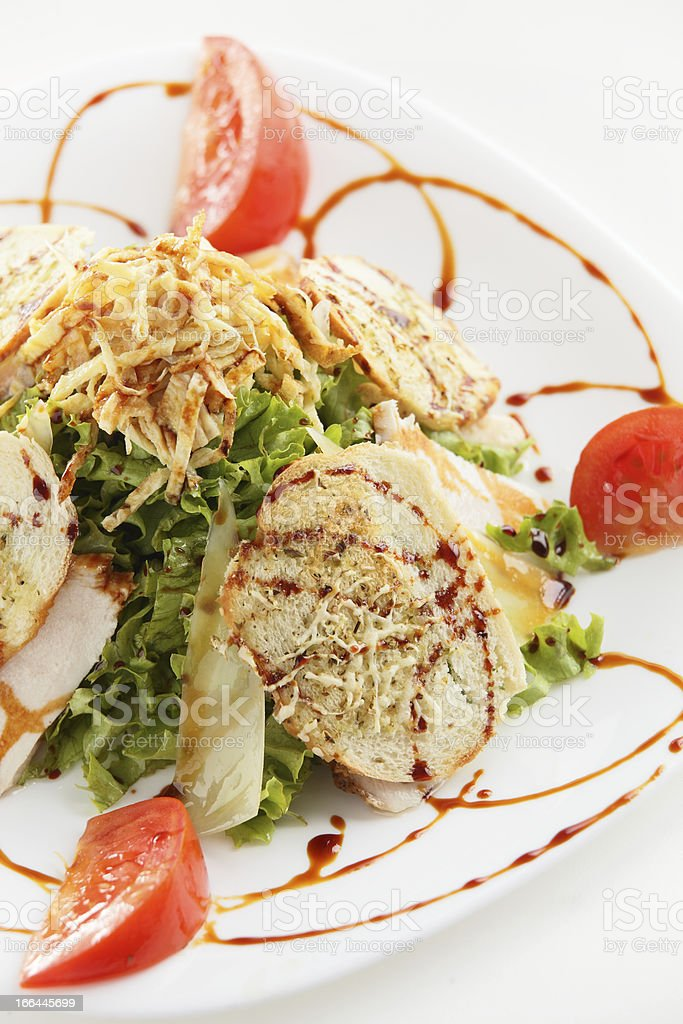 fresh and tasty salad royalty-free stock photo