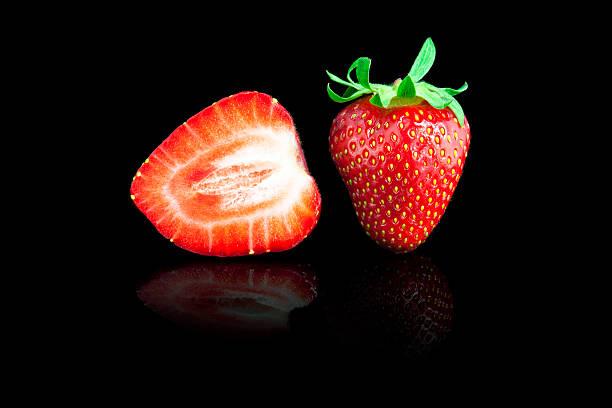 Fresh and tasty strawberries stock photo