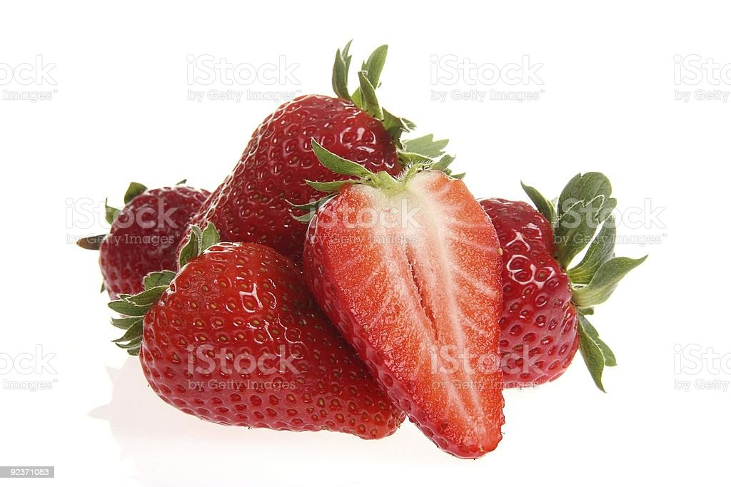 Fresh and tasty strawberries royalty-free stock photo