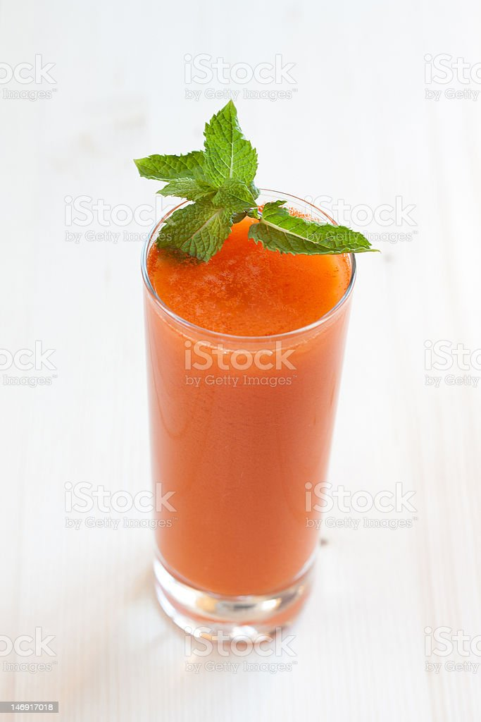 Fresh apple and carrot juice royalty-free stock photo