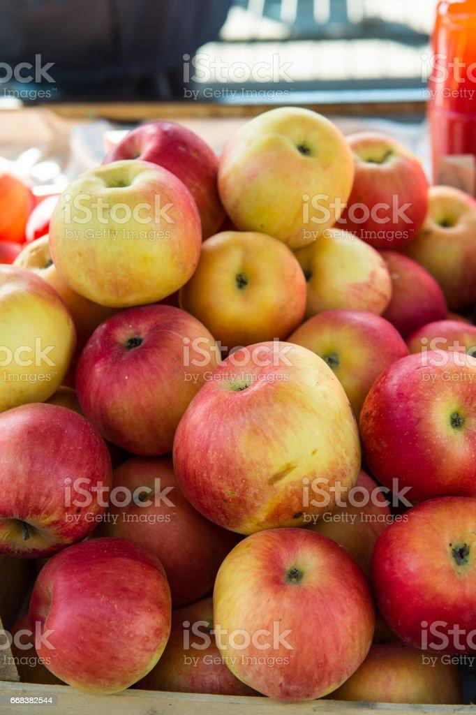 Fresh apple at the market stock photo