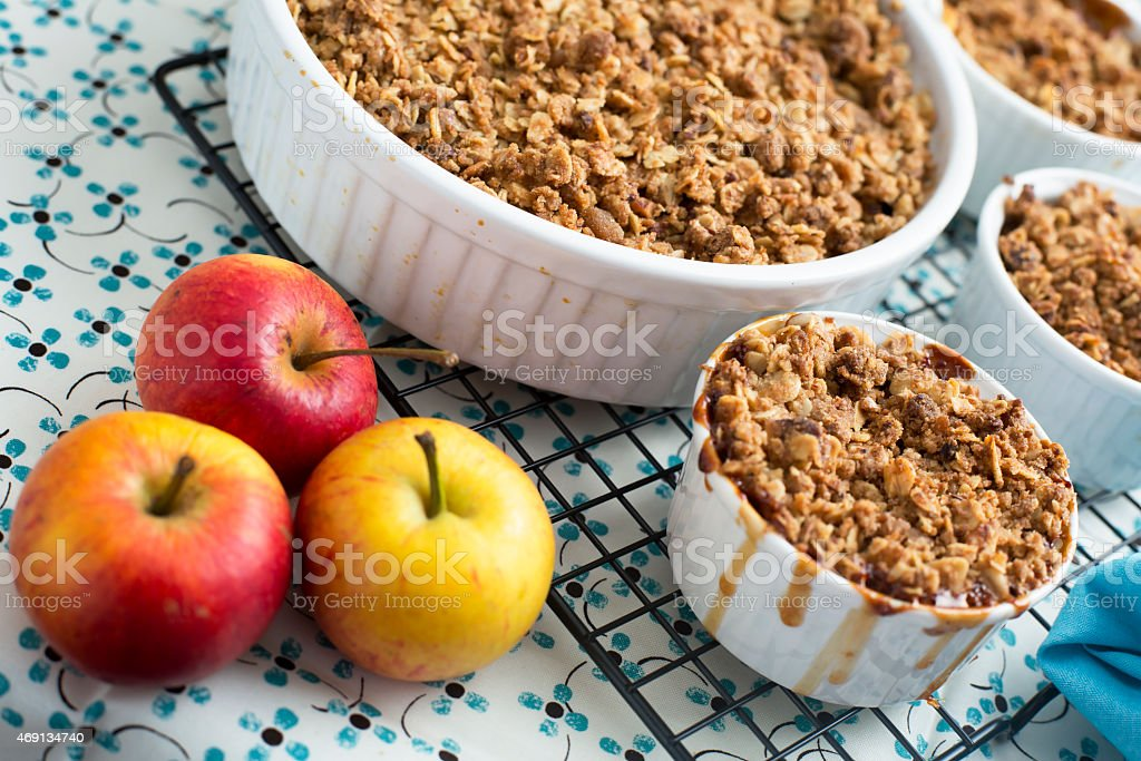 Fresh Apple Crumble stock photo