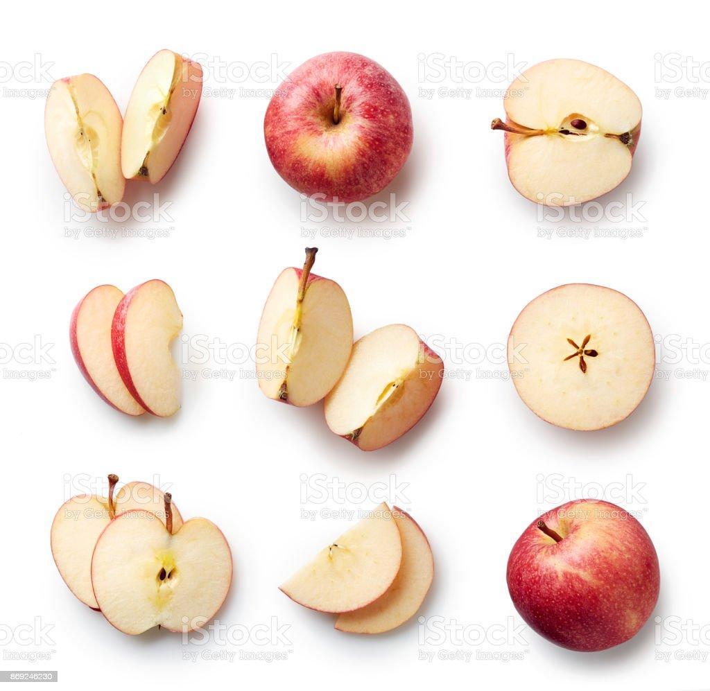 Manzana fresca aislado sobre fondo blanco foto de stock libre de derechos