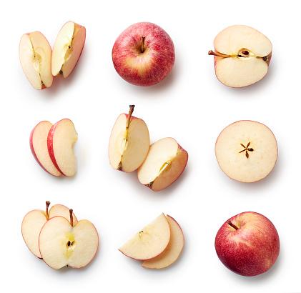 Fresh apple isolated on white background