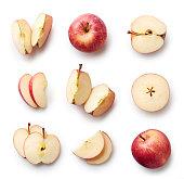 白い背景に分離された新鮮なリンゴ