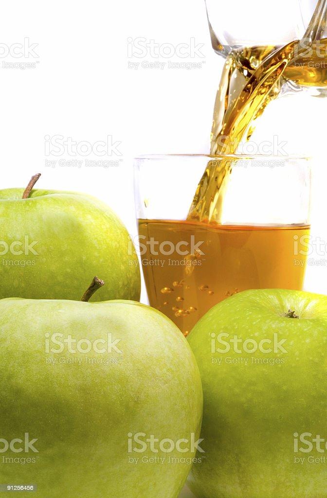 fresh apple juice on a white background royalty-free stock photo