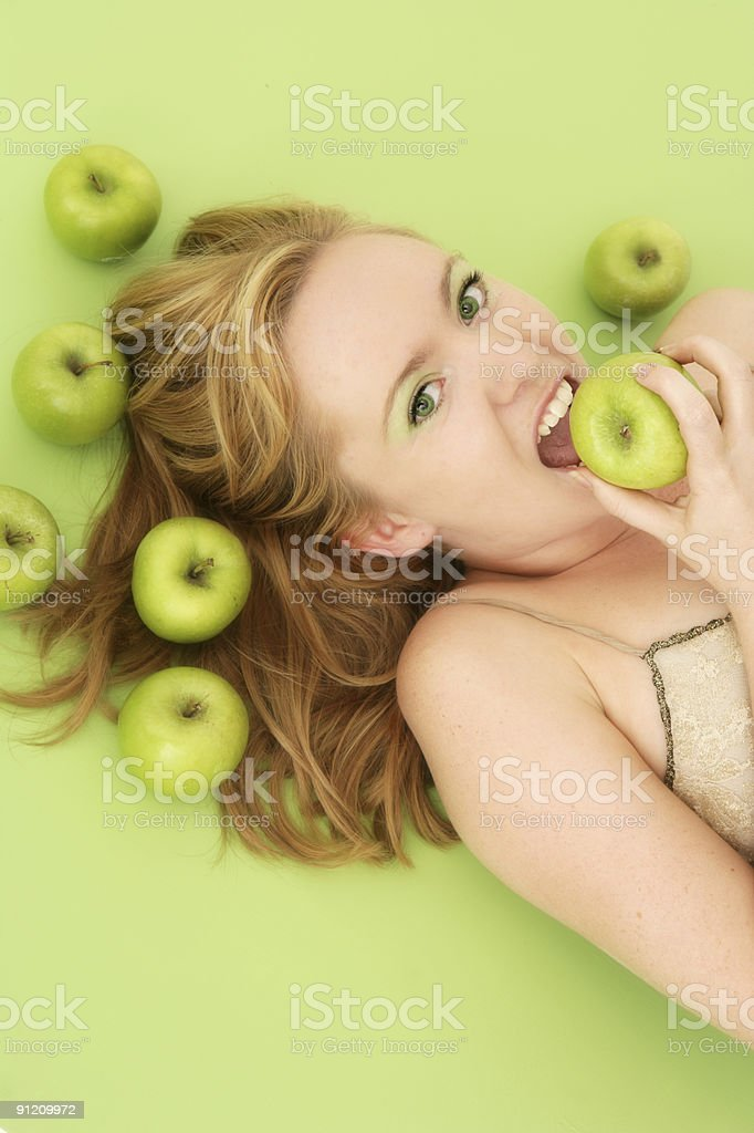 Fresh Apples royalty-free stock photo