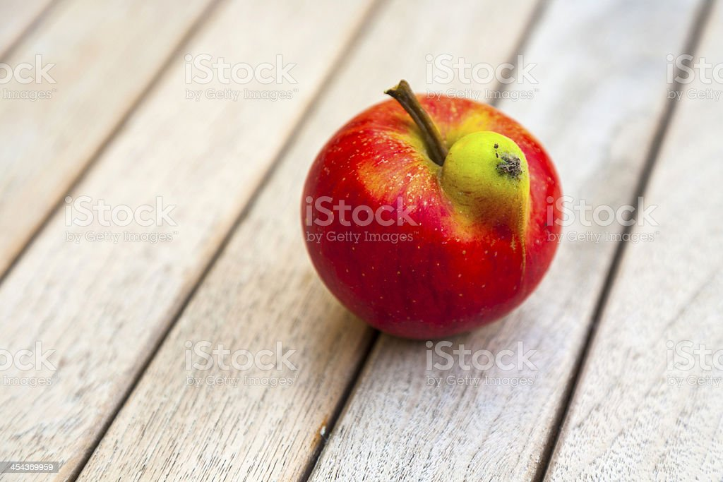 fresh apples with funny deformations stock photo