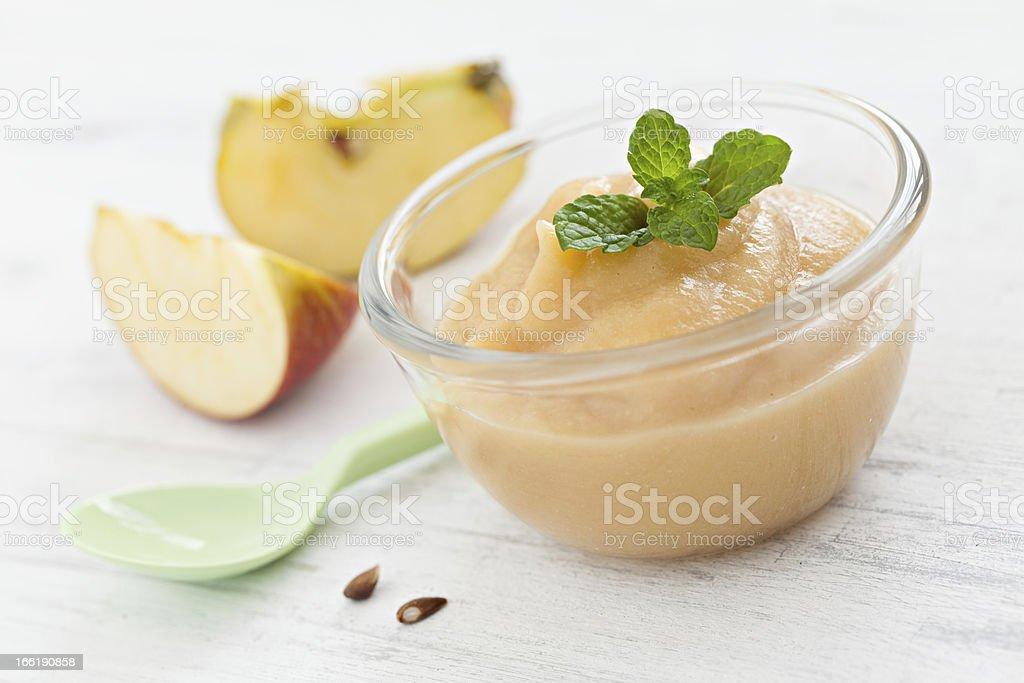fresh purê de maçã - foto de acervo