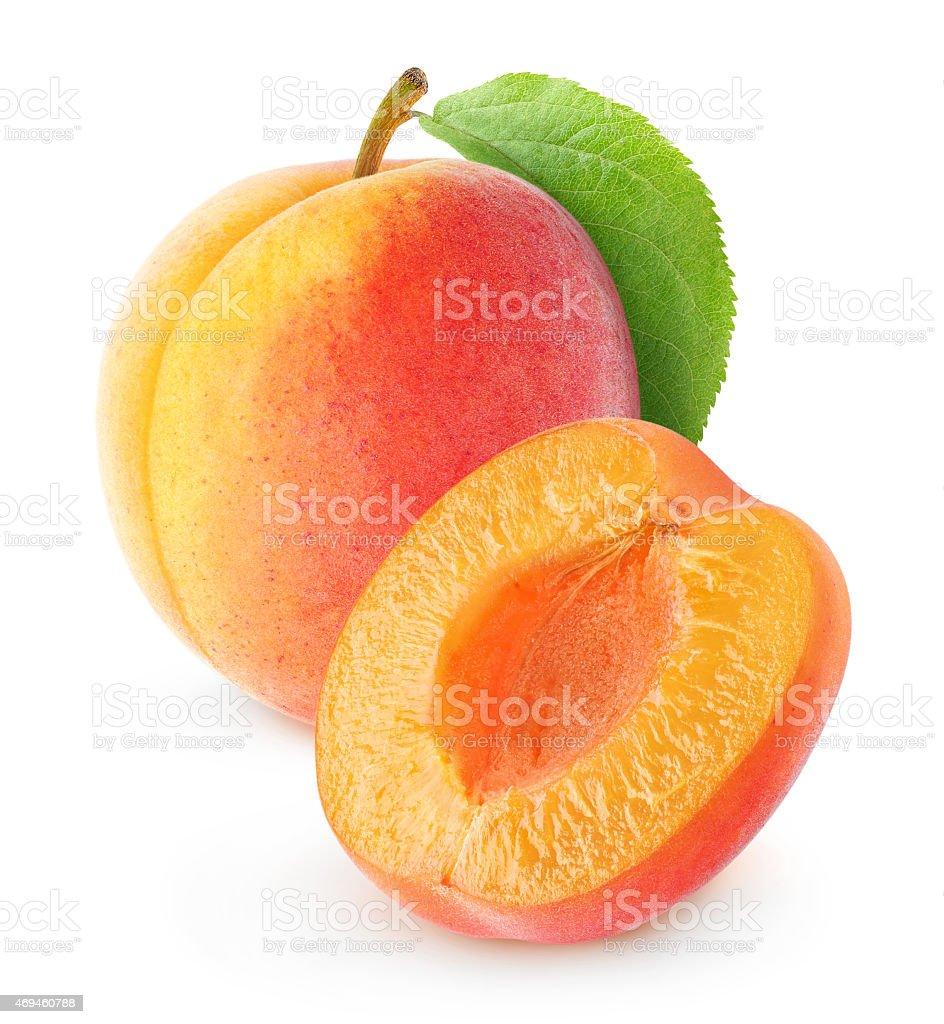 Fresh apricot on white background stock photo