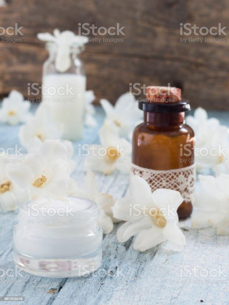 fresh as Spring, natural cosmetics foto stock royalty-free