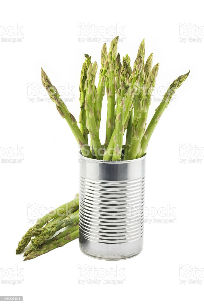 Fresh Asparagus In A Can royalty-free stock photo