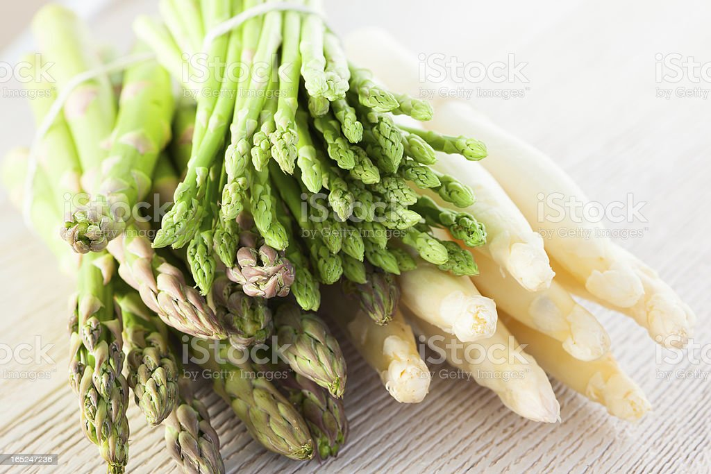 fresh asparagus stock photo