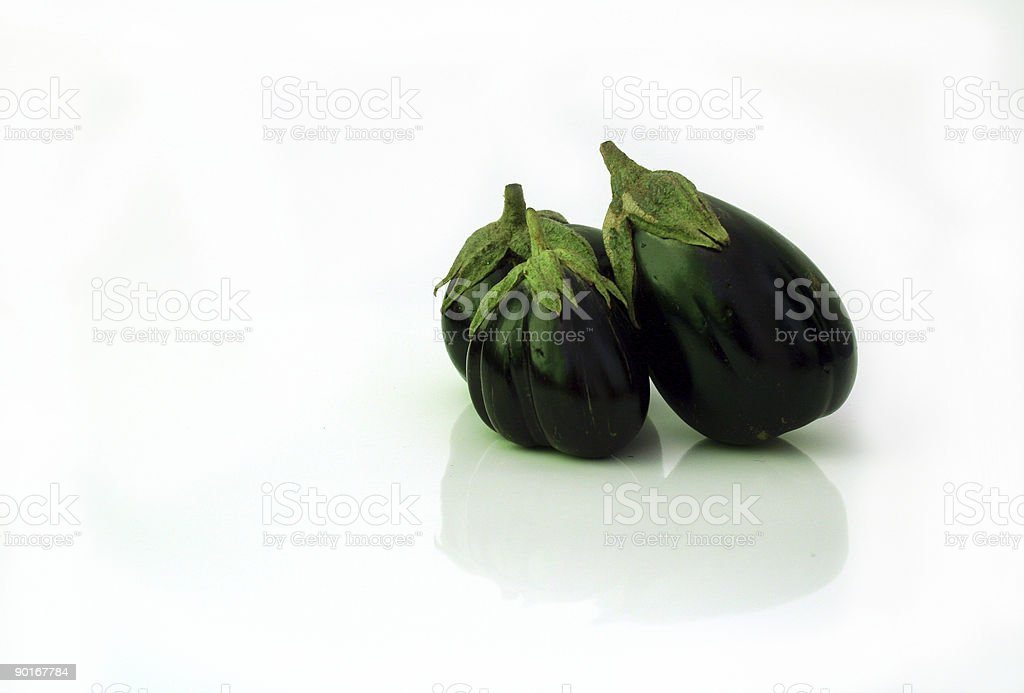 Fresh aubergines royalty-free stock photo