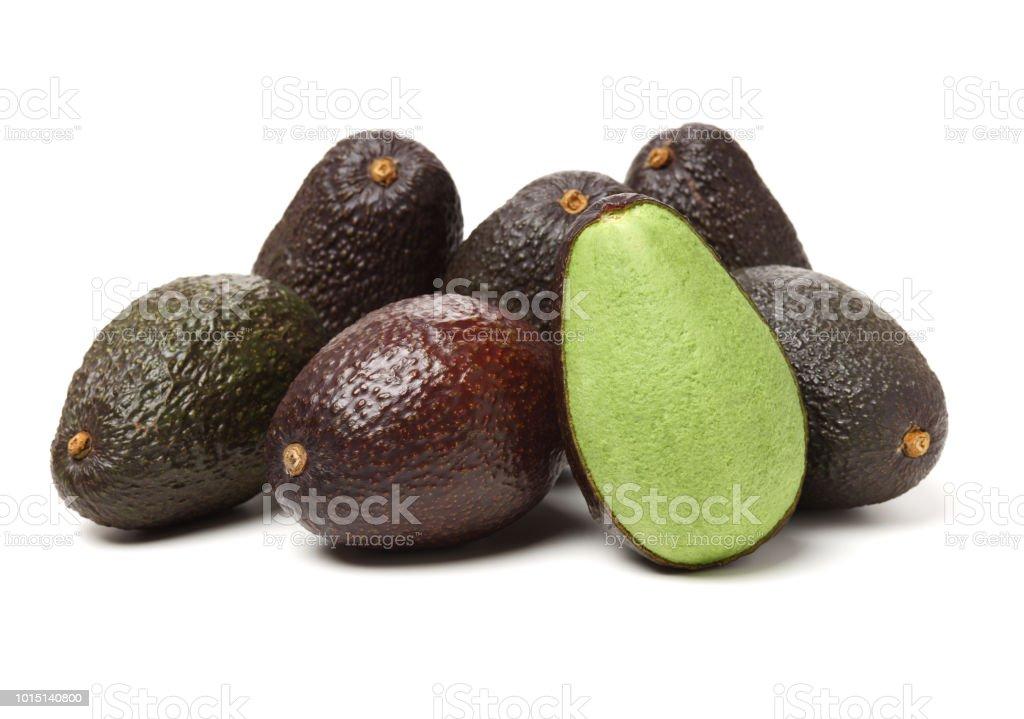 fresh avocado  isolated on a white background stock photo