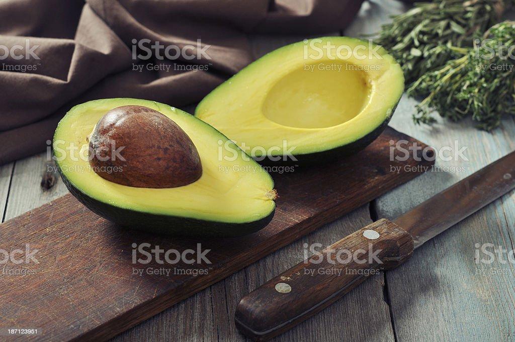 Fresh avocado royalty-free stock photo
