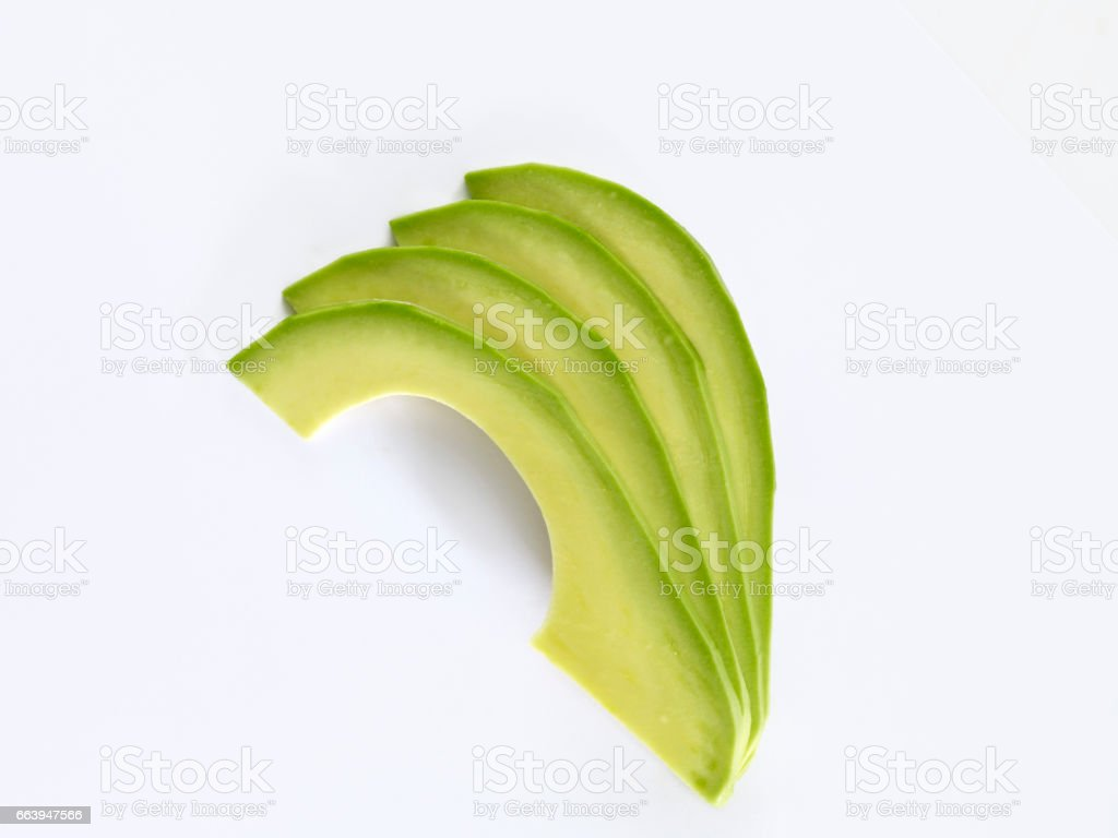 fresh avocado slices stock photo