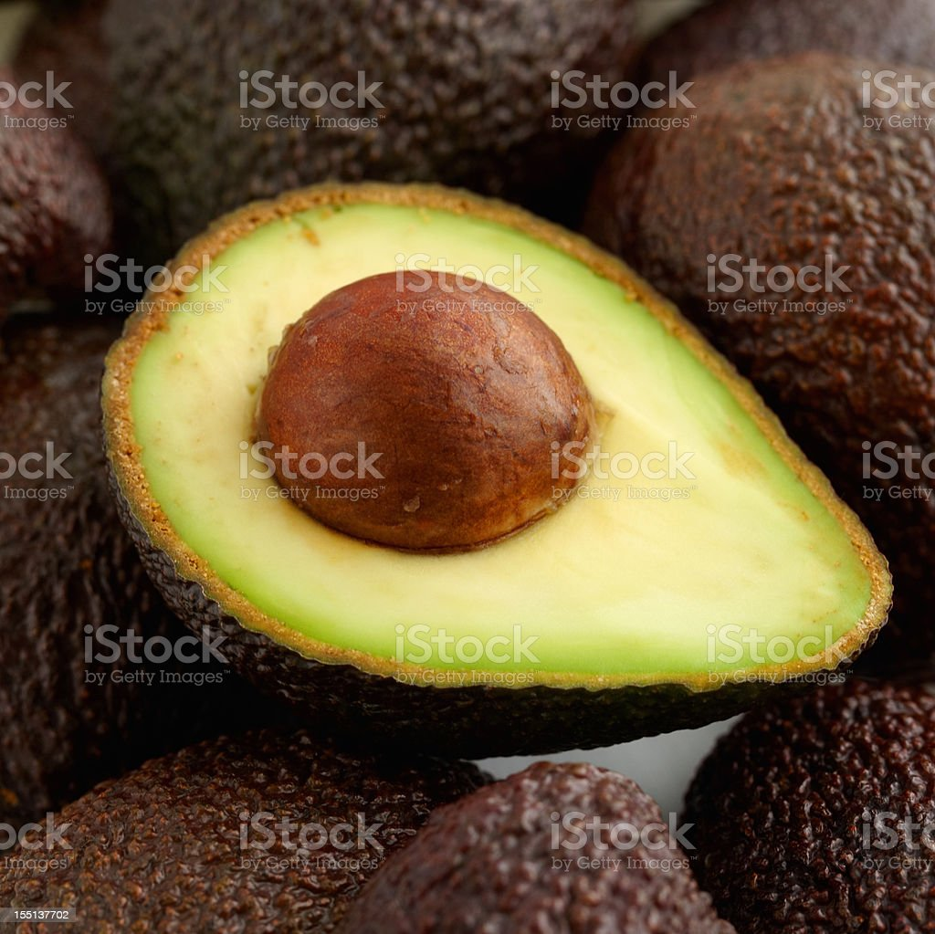 Fresh avocados royalty-free stock photo