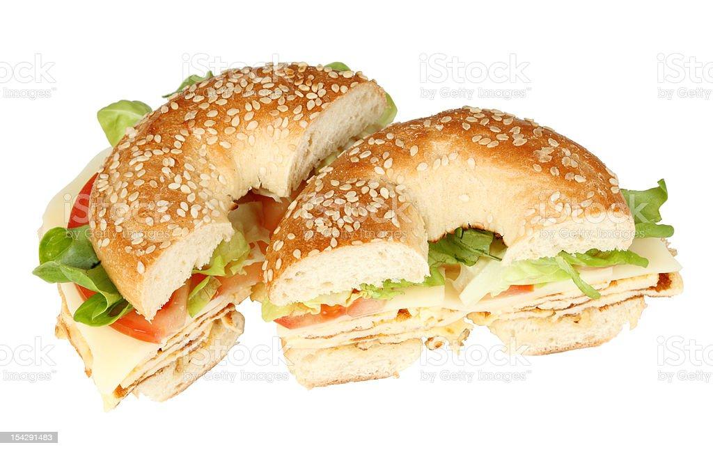 Fresh bagel sandwich royalty-free stock photo