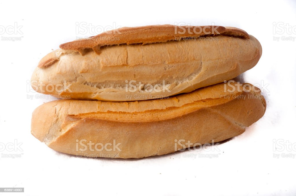 Fresh baguette on display stock photo
