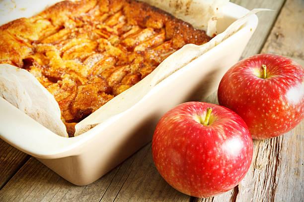 Fresh Baked Apple Cake stock photo