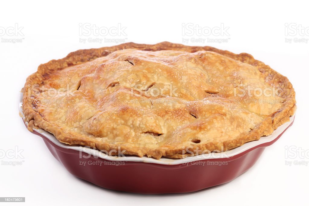 A fresh baked apple pie for dessert royalty-free stock photo
