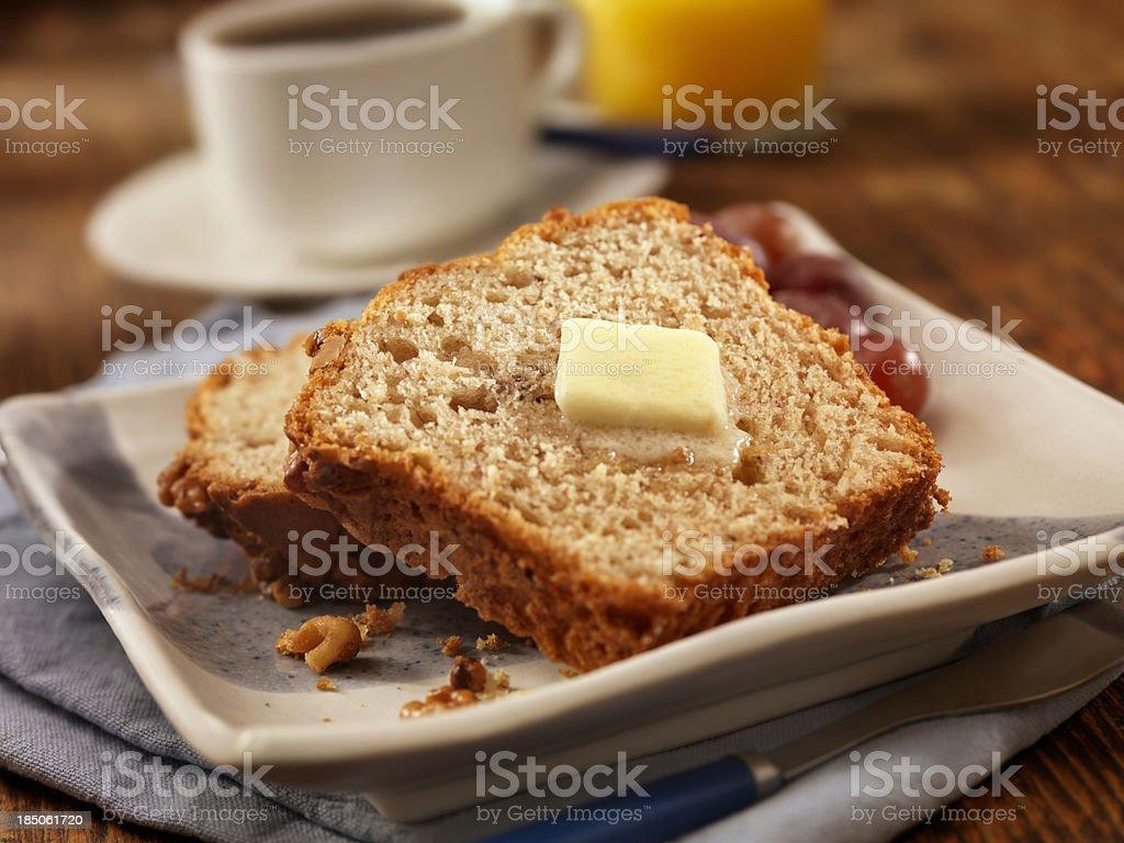 Fresh Baked Banana Bread royalty-free stock photo