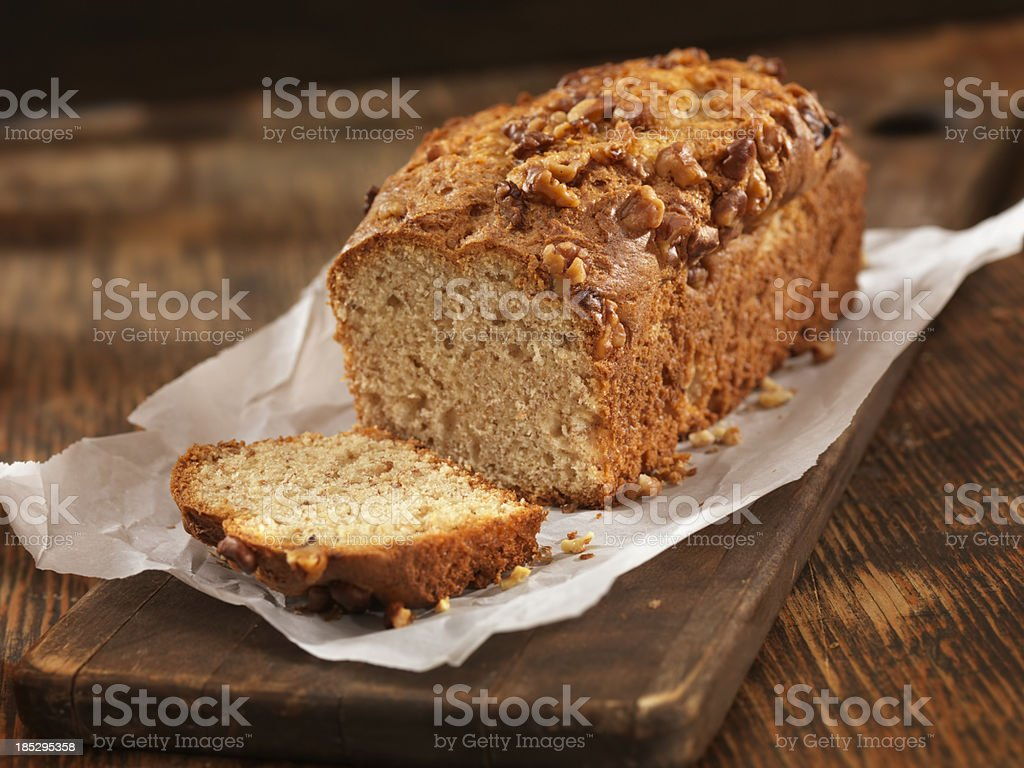 Fresh Baked Banana Bread stock photo
