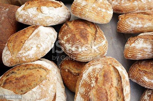 istock Fresh baked bread. 1165102725