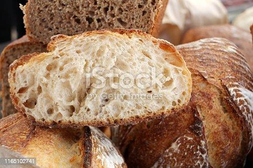 istock Fresh baked bread. 1165102741