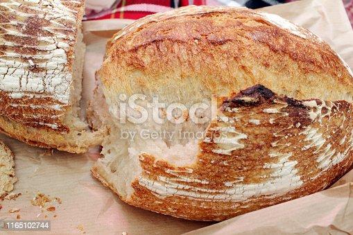 istock Fresh baked bread. 1165102744