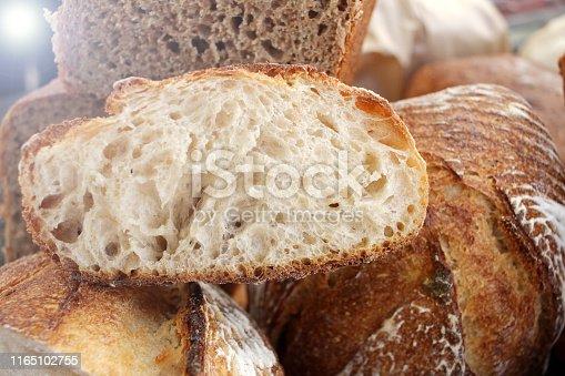istock Fresh baked bread. 1165102755