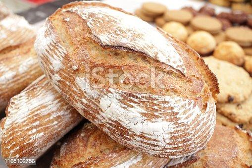 istock Fresh baked bread. 1165102756