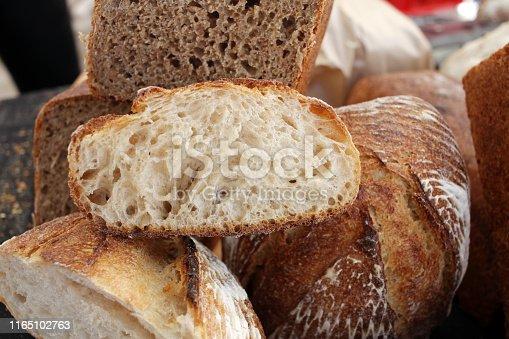 istock Fresh baked bread. 1165102763